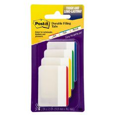 Post-It Tabs 686F-1 50.8mm x 38.1mm Primary Colours Assorted