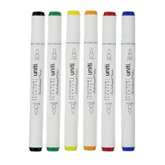 Uniti Dual Ended Markers Basic 6 Pack