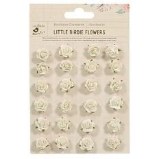 Little Birdie Embellishment Amelia Cream 24 Piece