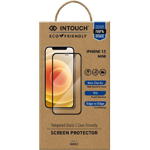 INTOUCH iPhone 12 Mini Glass Screen Protector Clear