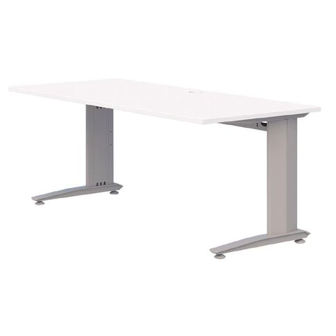 Accent Quick Ship Fixed Height Desk Silver/Snow 1200 x 700