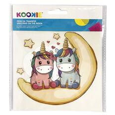 Kookie Iron on Transfer Stickers Unicorns on the Moon 1 Sheet