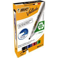 Bic Bic Velleda Whiteboard Marker Bullet Tip Assorted 4 Pack