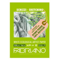 Fabriano Ecological Sketch Pad 120GSM 80 Sheets A4