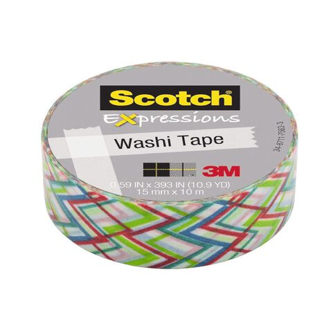 Scotch Washi Craft Tape 15mm x 10m Big Zag