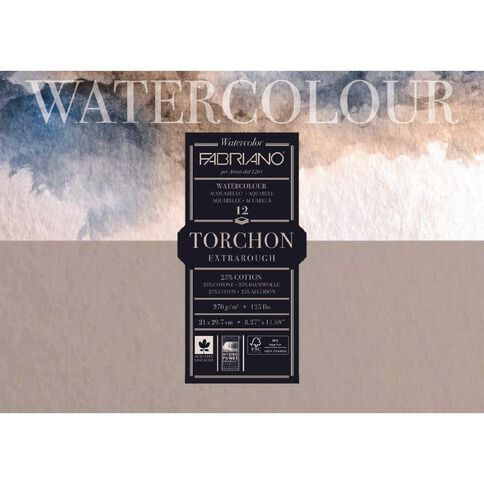 Fabriano Studio Watercolour Pad Rough 270GSM12 Sheets A4