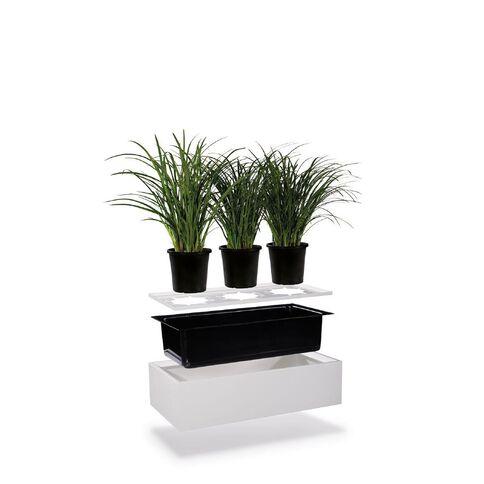 Precision Smartstore Planter Silver Grey