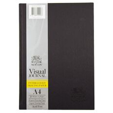 Winsor & Newton Visual Journal Interleaven 185gsm A4 32 Sheets Black