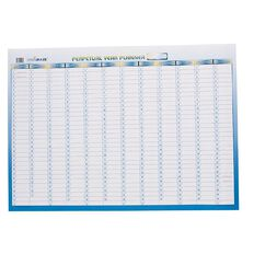Writeraze Wall Planner Perpetual 700mm x 500mm Laminated White