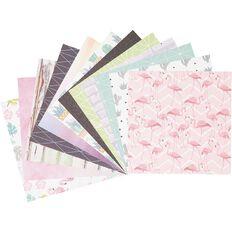 Uniti Mini Paper Stack Printed 6x6 24 Sheets Flamingo