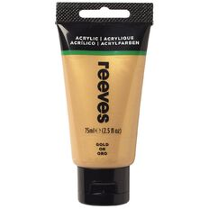 Reeves Fine Acrylic 75ml Gold 800 75ml