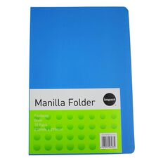 Impact Manilla Folders Foolscap 10 Pack Blue