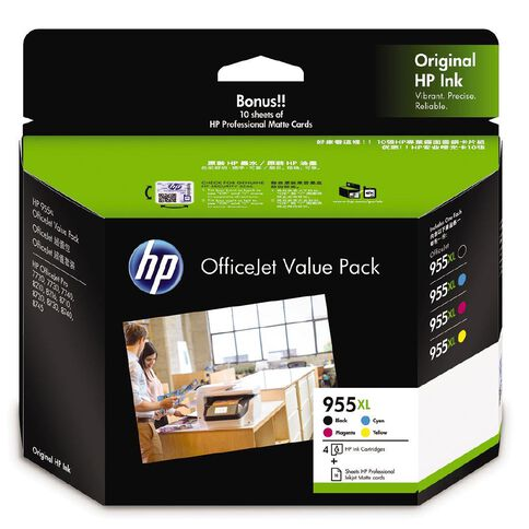 HP Ink 955XL Inkjet Matte Cards OVP