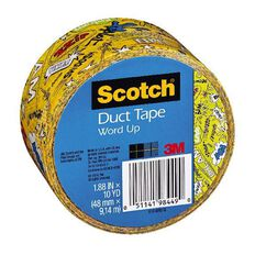Scotch Duct Craft Tape 48mm x 9.14m Word Up