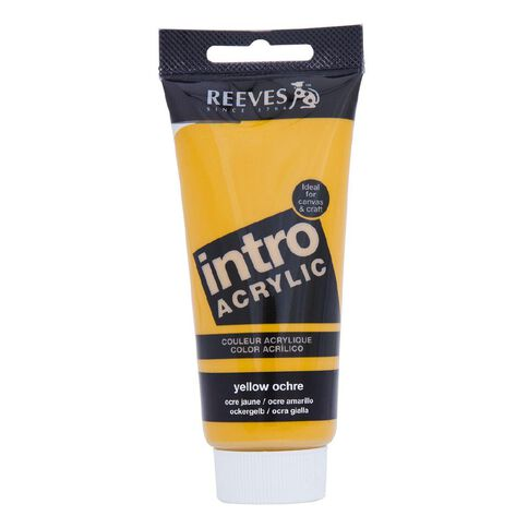 Reeves Intro Acrylic Paint 100ml Ochre Yellow