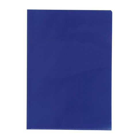 WS L-Shaped Pockets 10 Pack Blue A4