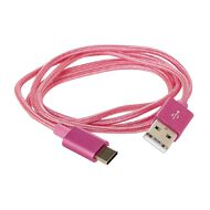 USB-C Cable Braided 1m New Craft Pink