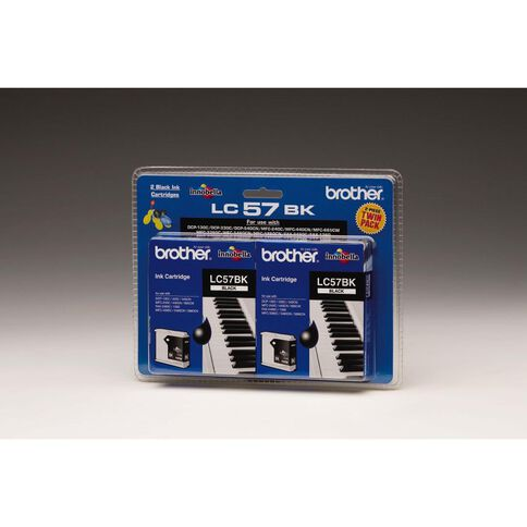 Brother Ink LC57 Black 2 Pack (500 pages)