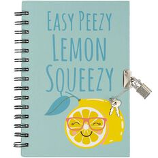 Kookie Fun Food Notebook Hardcover With Lock A5
