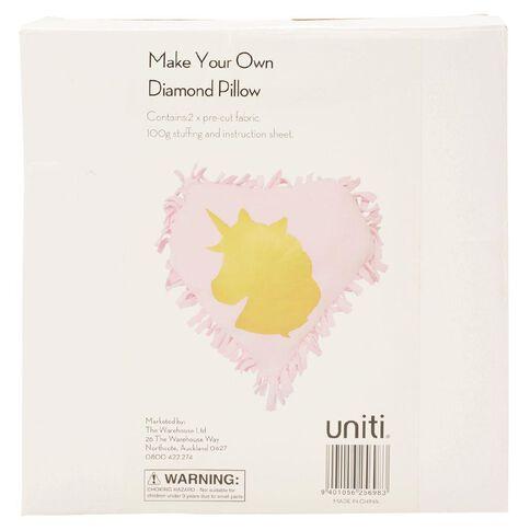 Uniti Make Your Own Diamond Pillow White
