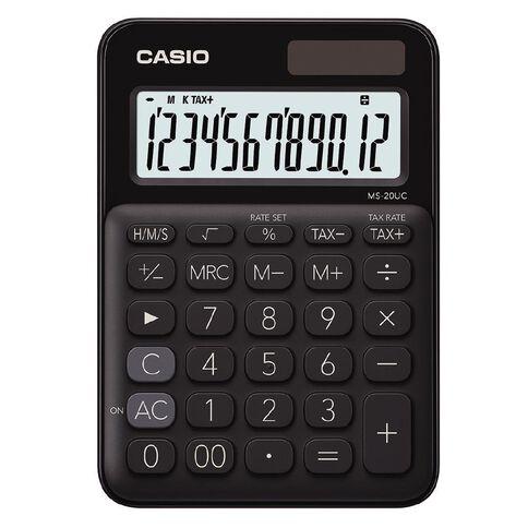Casio MS20UCBK Desktop 12 Digit Calculator Black