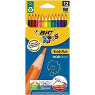 Bic Kids Evolution Colouring Pencils 12 Pack Multi-Coloured
