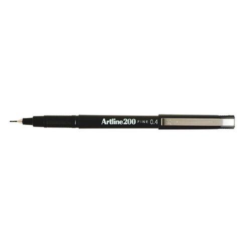 Artline Pen 200 Fine 2 Pack Black