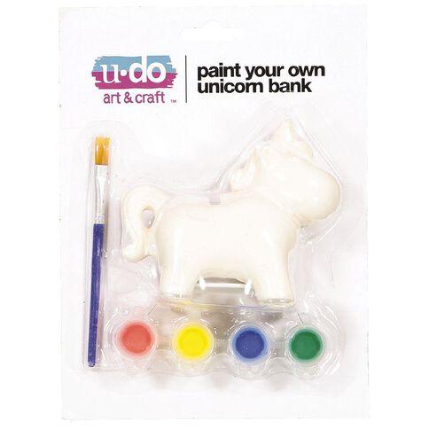 U-Do Paint Your Own Unicorn Bank