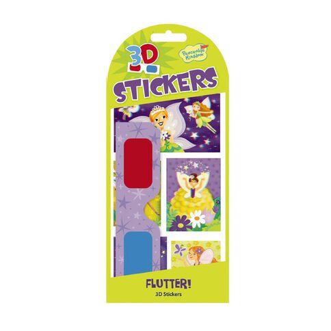 Peaceable Kingdom Stickers 3D Flutter