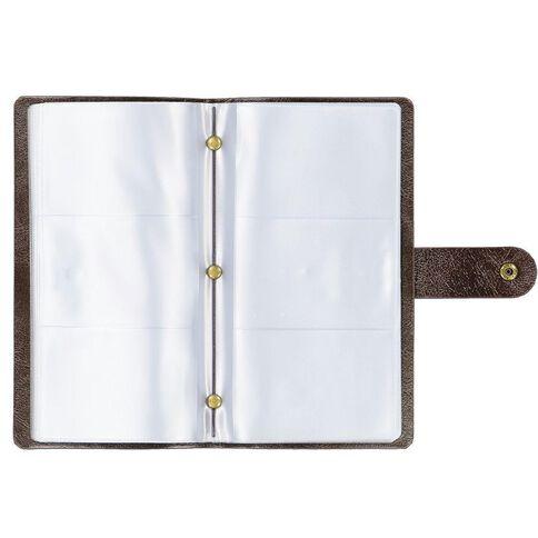 Paper Co Vintage Business Card Holder 96 Pockets Brown