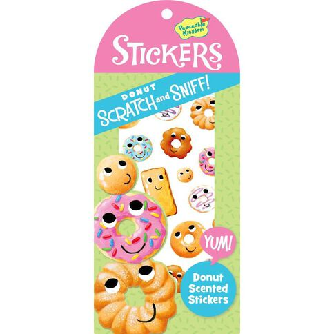 Peaceable Kingdom Stickers Scratch & Sniff Donut