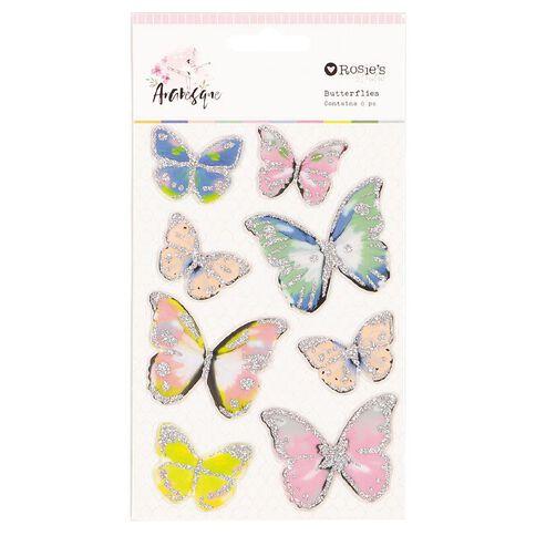 Rosie's Studio Arabesque Butterflies 8 Piece