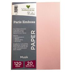 Direct Paper Paris Emboss 120gsm A4 20 Pack Musk