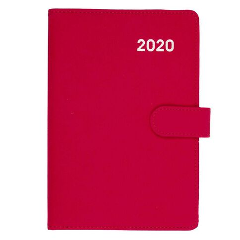 Dats Diary 2020 Week To View PU Embossed With Clasp Assorted A5