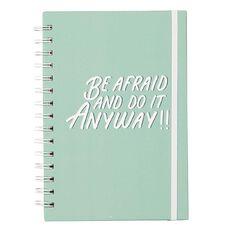 Uniti Empowerment Spiral Notebook Teal A5