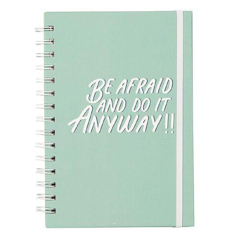 Uniti Empowerment Spiral Notebook Hardcover Teal A5