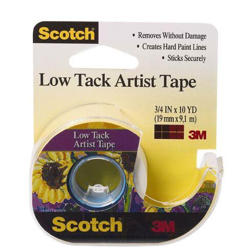 Scotch Low Tack Artist Tape 19mm x 9.1m