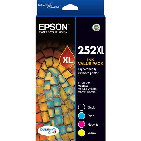 Epson Ink 252XL Value 4 Pack