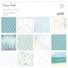 Uniti Paper Pad 24 Sheets 12 Designs Oceania 6in x 6in
