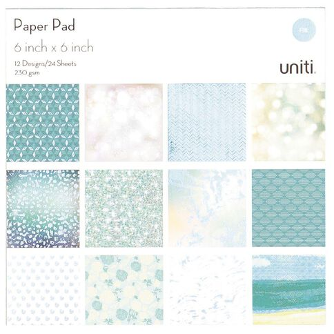 Uniti Paper Pad 24 Sheets 12 Designs Oceania 6in x 6in