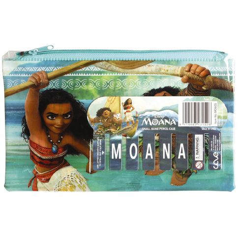 Moana Disney Small Name Pencil Case Multi-Coloured