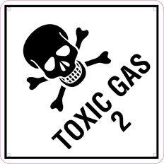 WS Toxic Gas Sign Small 300mm x 300mm