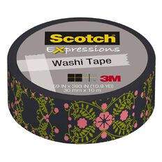Scotch Washi Craft Tape 15mm x 10m Pretty Folk Art