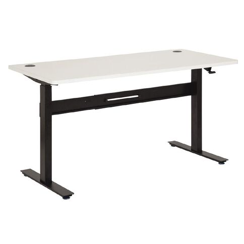Jasper J Emerge 1500 Straight Pneumatic Desk White/Ironstone