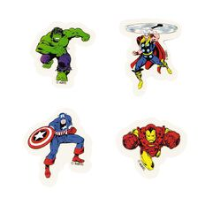 Marvel Kids Four Avengers Erasers 4 Pack