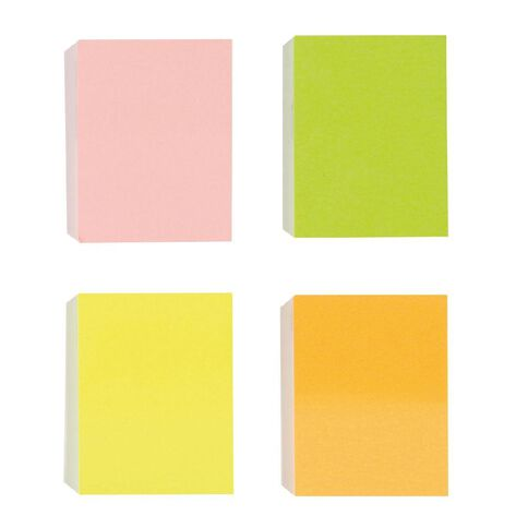 Impact Fluro Sticky Notes 38mm x 50mm 45 Sheet 4 Pack