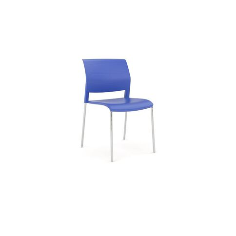 Game Chrome Chair Indigo Blue
