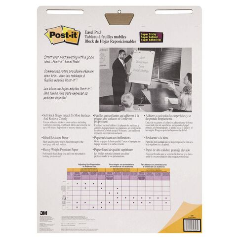 Post-It Easel Pad 559 635mm x 775mm White