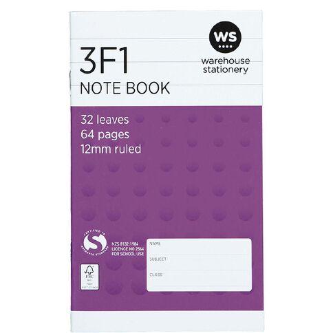 WS Note Book 3F1 12mm Ruled 32 Leaf