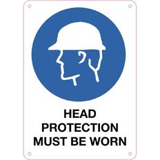WS Head Protection Must be Worn Sign Small 340mm x 240mm